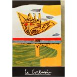 Art Exhibition Poster Corbusier Folk Scupture Ceroli Gene Davis Baj