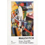Art Exhibition Poster Malevich Pompidou Keinholz Osbert Dorazio