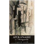 Art Exhibition Poster Picasso Apollinaire Matisse Kirchner Lazio Horniman