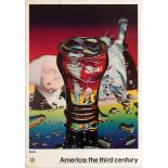Art Exhibition Poster Moore Yankee Flame Schonzeit American Architecture Metafisica Judd Morris