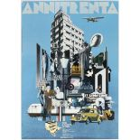 Art Exhibition Poster Art Deco Cubists Florence Agora Santomaso