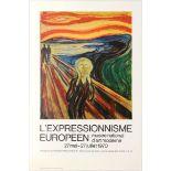 Art Exhibition Poster Expressionism Munch Beckmann Hartung De Smet