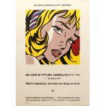 Art Exhibition Poster Lichtenstein Pop Art Greco Mafai David e Roma