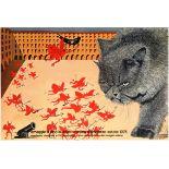 Art Exhibition Poster Buzatti Cat Minguzzi Orozco Hartung