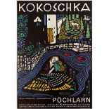 Art Exhibition Poster Kokoschka Gagli Yoruba Cults Mattheur Avantgarde
