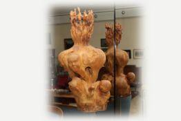 Harry Brenner (Rumänien 1939 geb.) Piestinger Künstler, Die Schöpfung, Skulptur, Holz, geschnitzt,