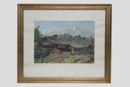 Anton Filzmoser (Ostermiething1897-1969 Braunau) Säge bei Unterlaussa, signiert A.Filzmoser, datiert