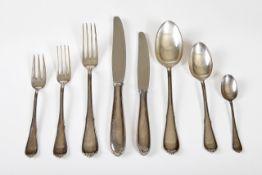 Tafelbesteck für 6 Personen Silber 800, Fa. Jezler, Dekor Princesse, um 1938, best.aus: 6 Gabeln,