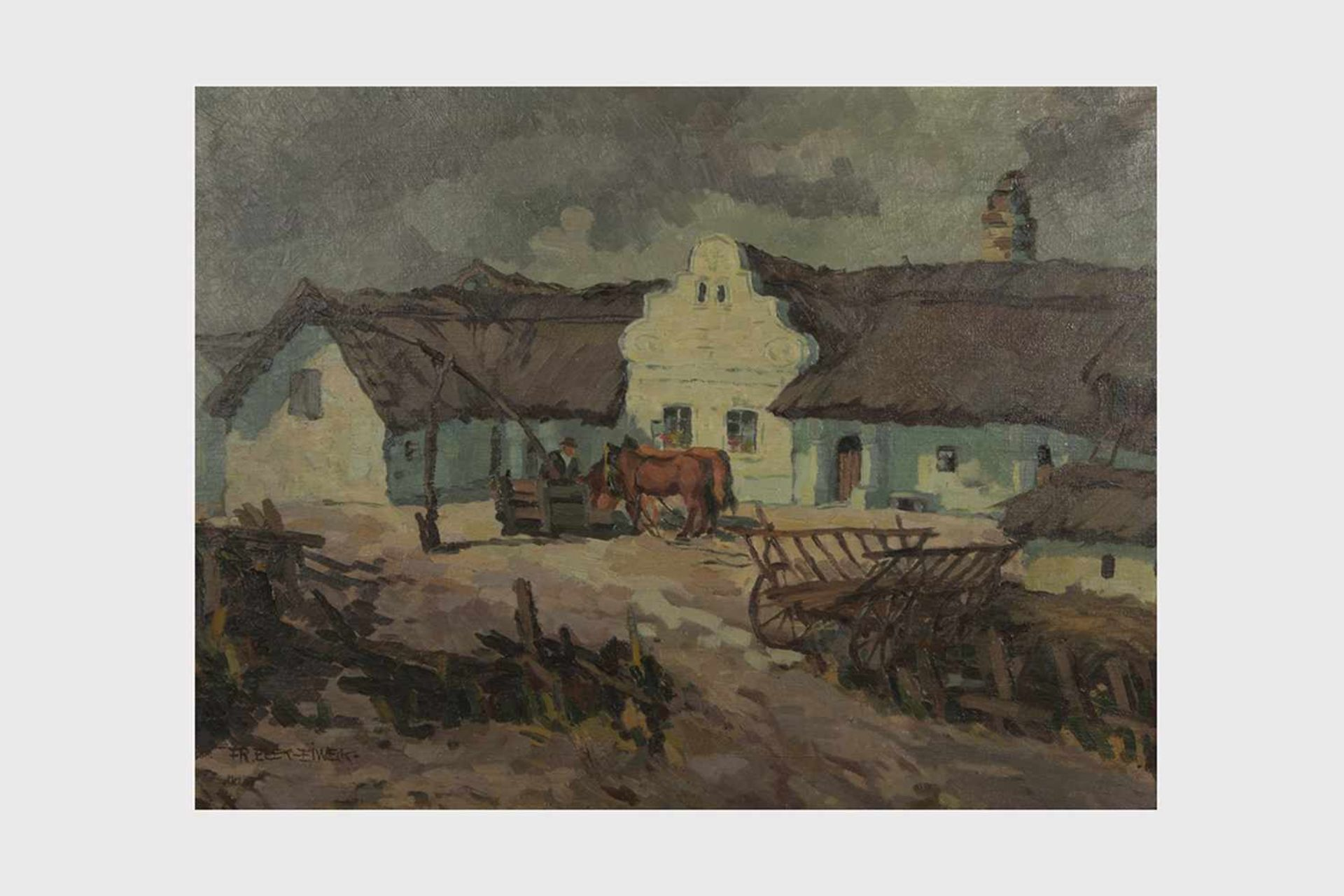 Los 13 - Franz Elek-Eiweg (1883-1959 Eisenstadt) Illmitz, Öl auf Leinwand, signiert Fr. Elek-Eiweg, 64x84,
