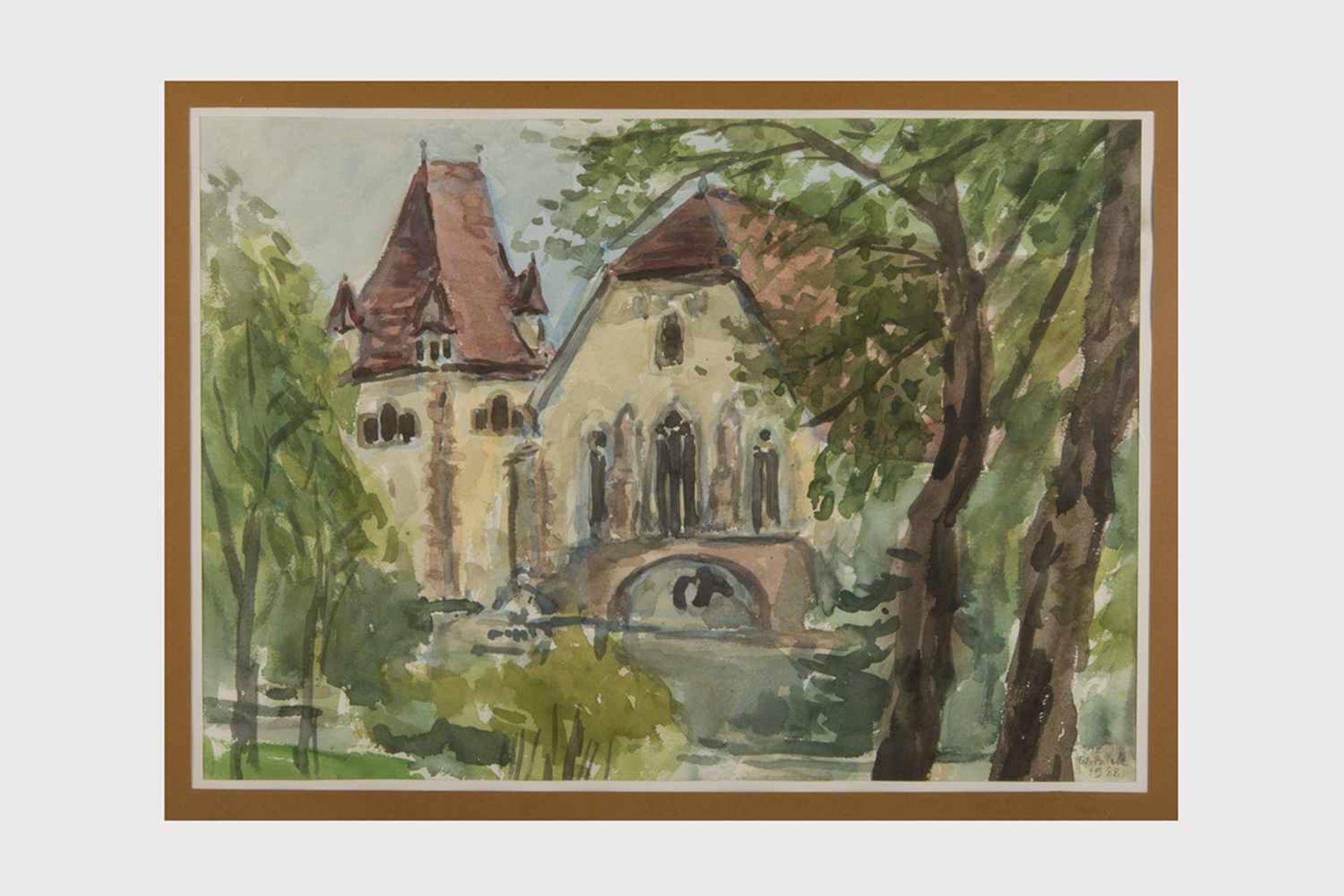 Los 11 - Walter Bilek (1923-1992) Aquarell auf Papier, dat. 1988, Georgskapelle in der Theresianischen