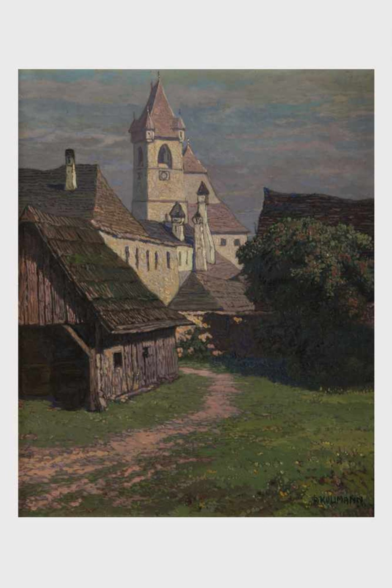 Los 8 - Albert Kollmann (Wien 1878-1962 Eisenstadt), Alt Eisenstadt, signiert A. Kollmann, Öl auf Malplatte,