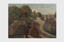 Hanns Diehl (Pirmasens Rheinpfalz 1877-1946 Wien) Schlosspark, signiert Hanns Diehl, Öl auf