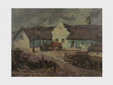 Franz Elek-Eiweg (1883-1959 Eisenstadt) Illmitz, Öl auf Leinwand, signiert Fr. Elek-Eiweg, 64x84,