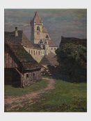 Albert Kollmann (Wien 1878-1962 Eisenstadt), Alt Eisenstadt, signiert A. Kollmann, Öl auf Malplatte,
