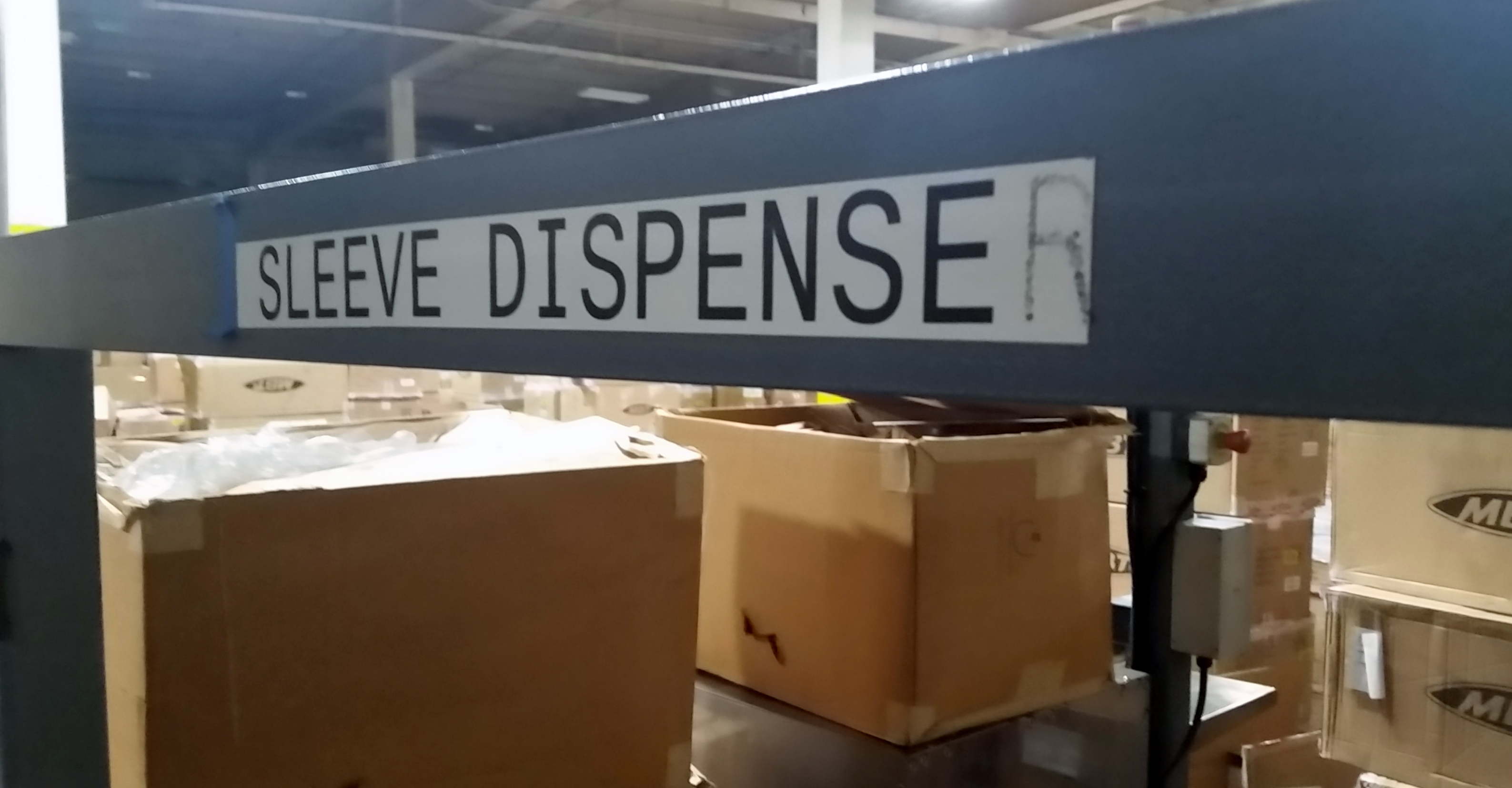 Lot 13A - Sleever Acumalator Sleeve Dispense Sleeve dispenser WITH 2 EBJ AIRSHAFTS