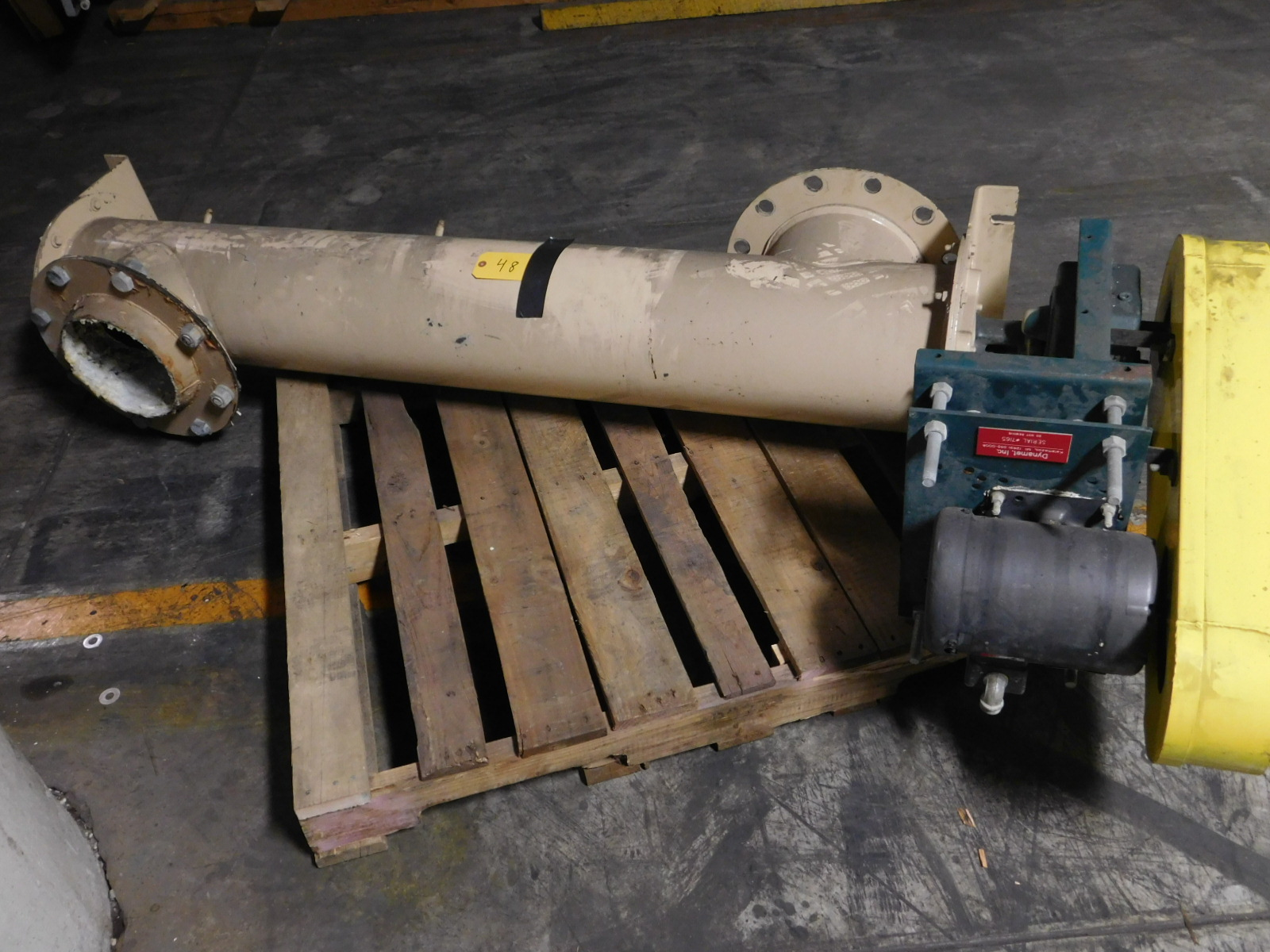 Lot 48 - DynametScrew Conveyor with steel piping 1HP , 3 phase :equipment located at Clark Logistic