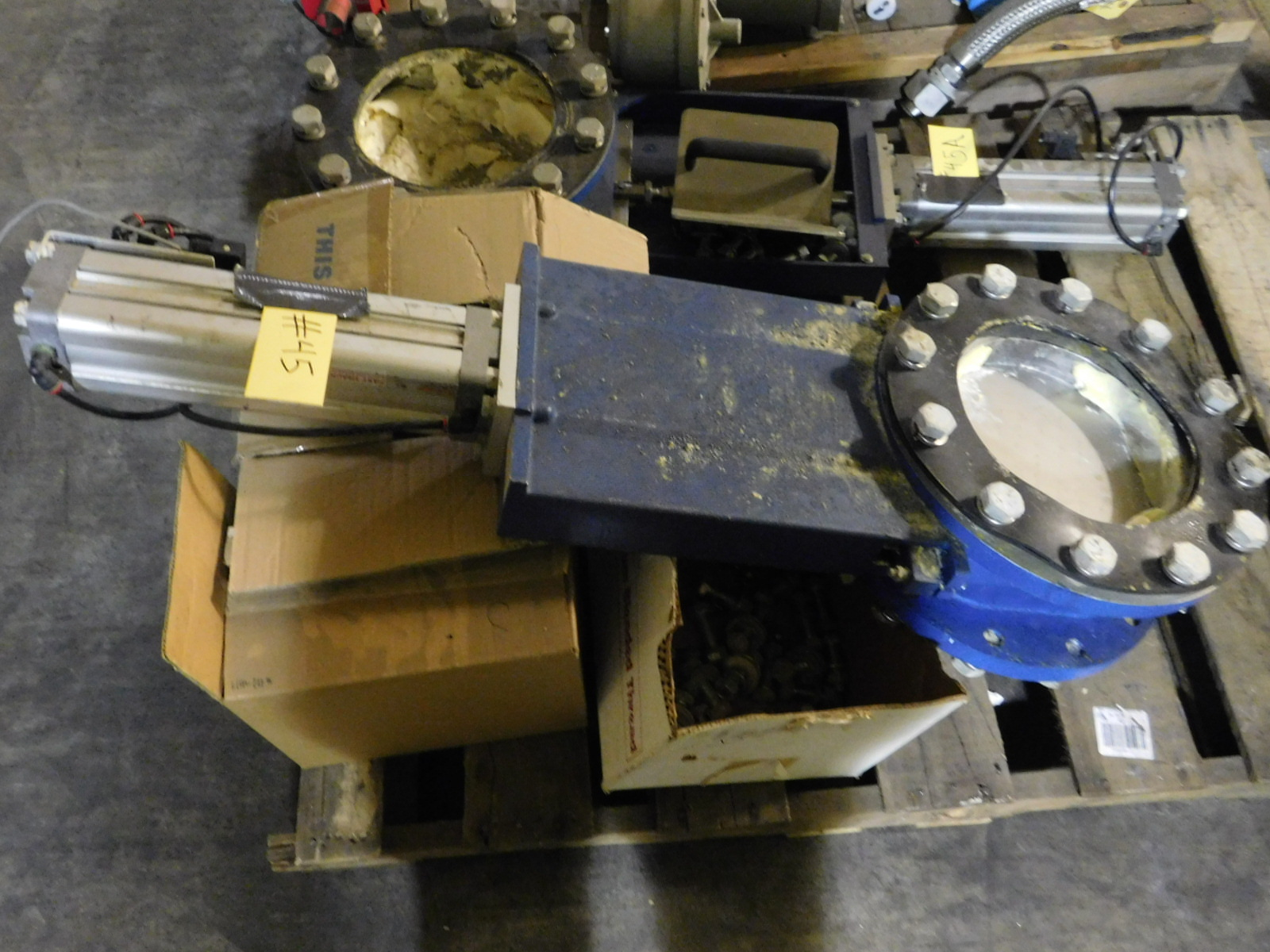 """Lot 45 - NORGEN 10"""" Valve With Norgren Double Action Pneumatic Profile Cylinder Model:PRA-182080/M ONLY ON"""