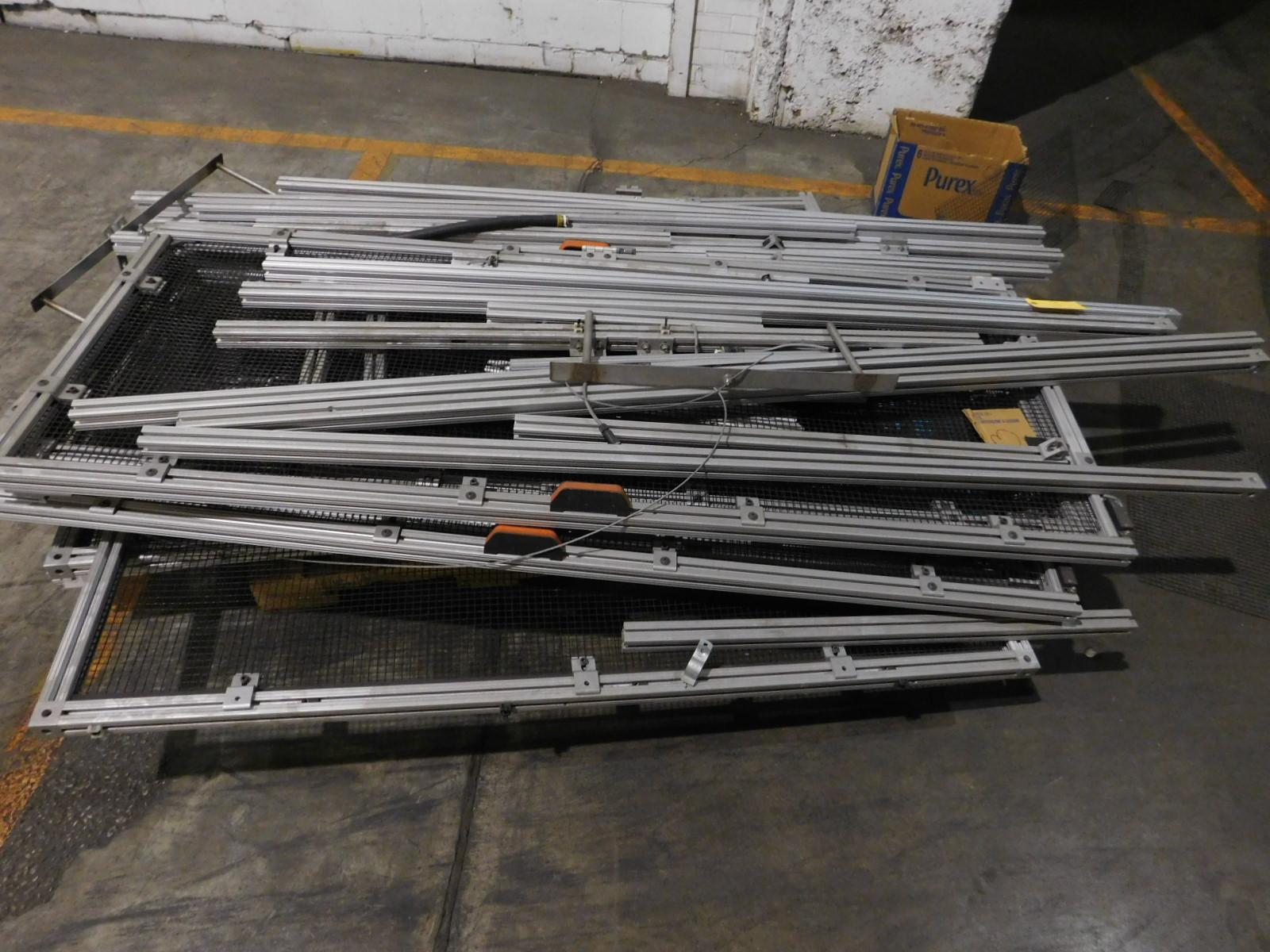 """Lot 3 - Metal Aluminium Cage Est. 18 Rails 6-Walls 30""""x76"""", 1- 5' x 63"""" walls, 1 40 1/2"""" X 75 1/2"""" Side wall"""