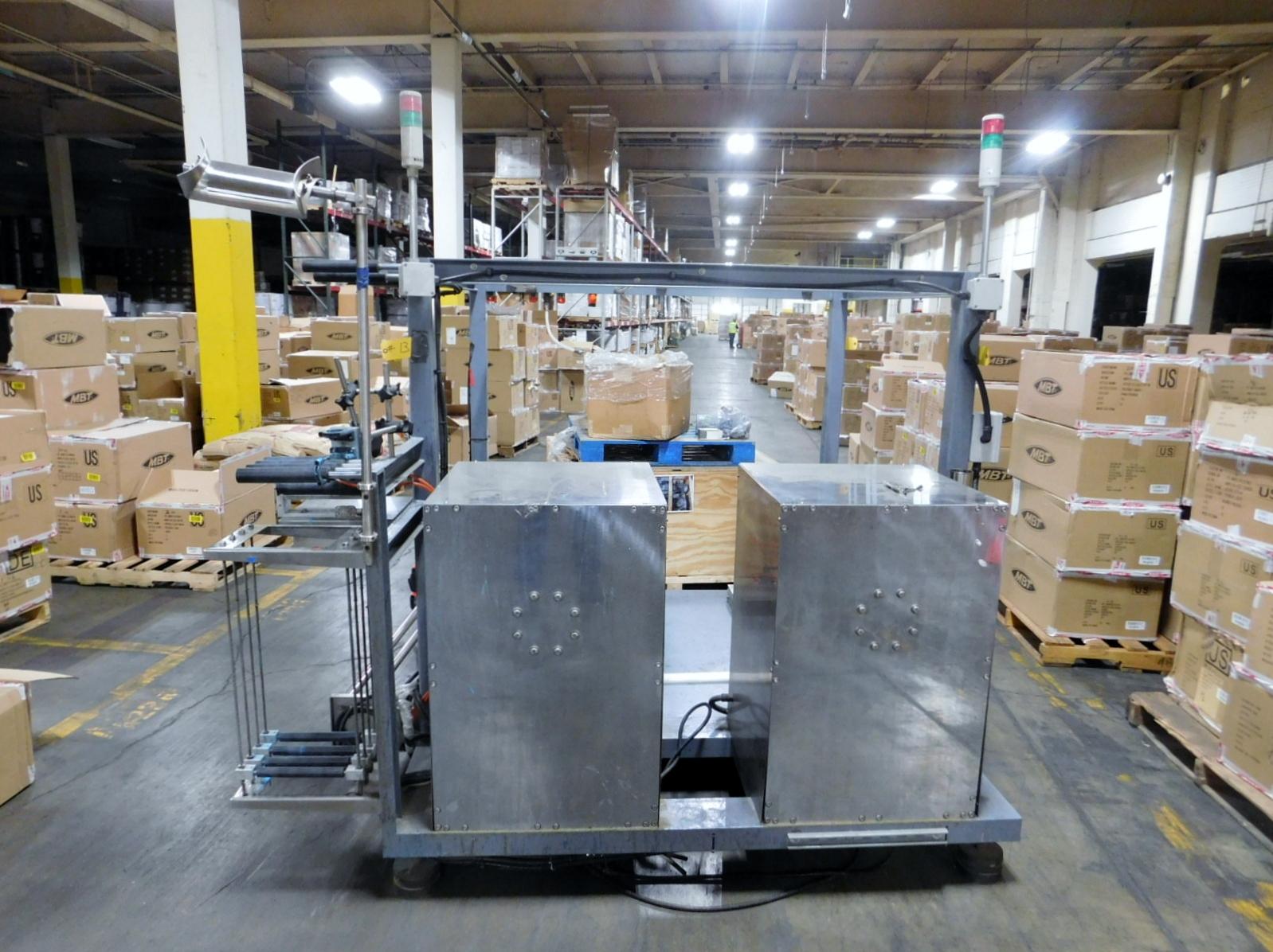 Lot 13 - Sleever Acumalator Sleeve Dispense Sleeve dispenser WITH 2 EBJ AIRSHAFTS Clark Logistic Services |