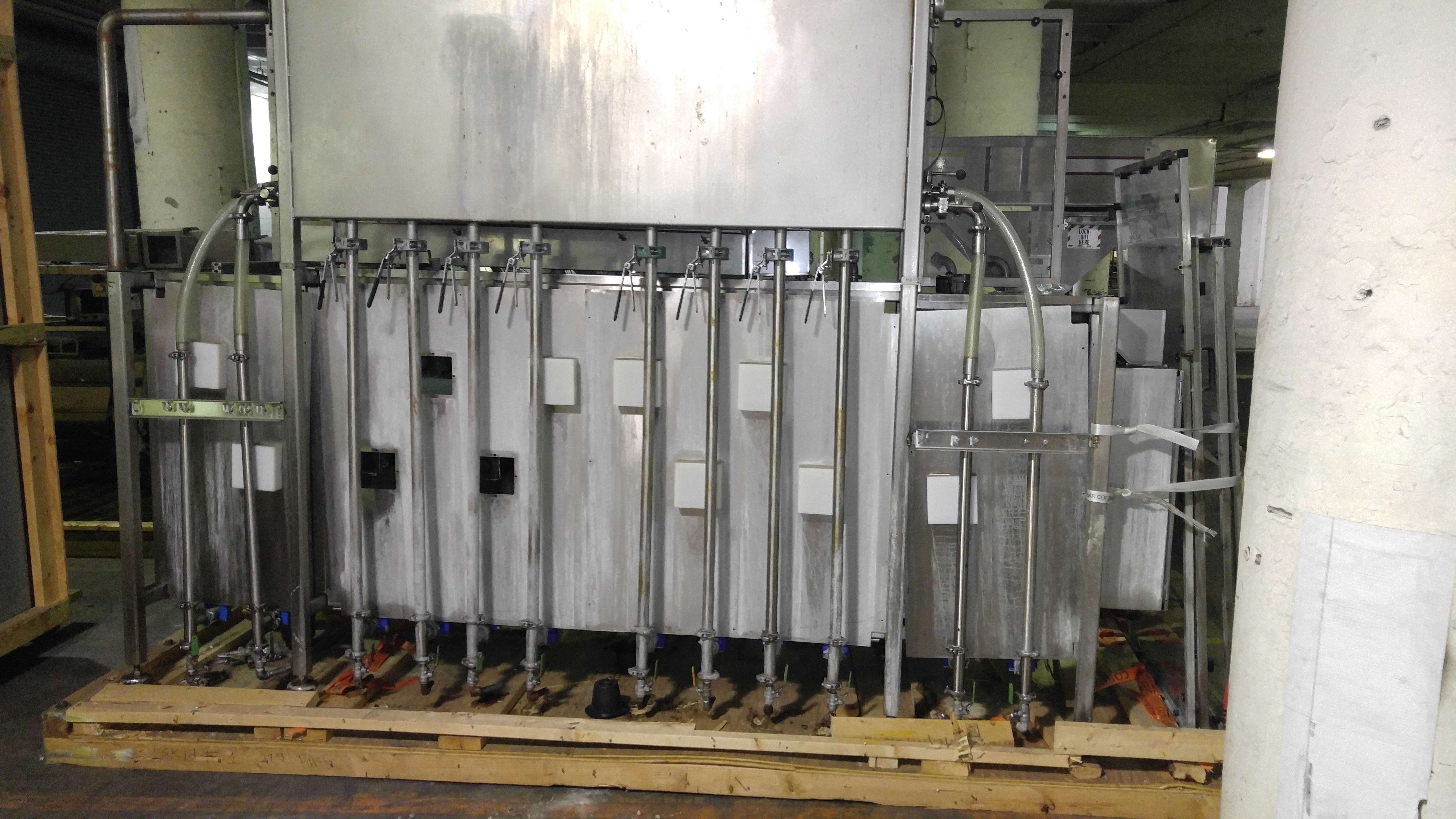 Lot 58 - Fillimatic with Head tank & (12)Waukesha Cherry Burrell Pumps Model 060 Stainless Steel displacement