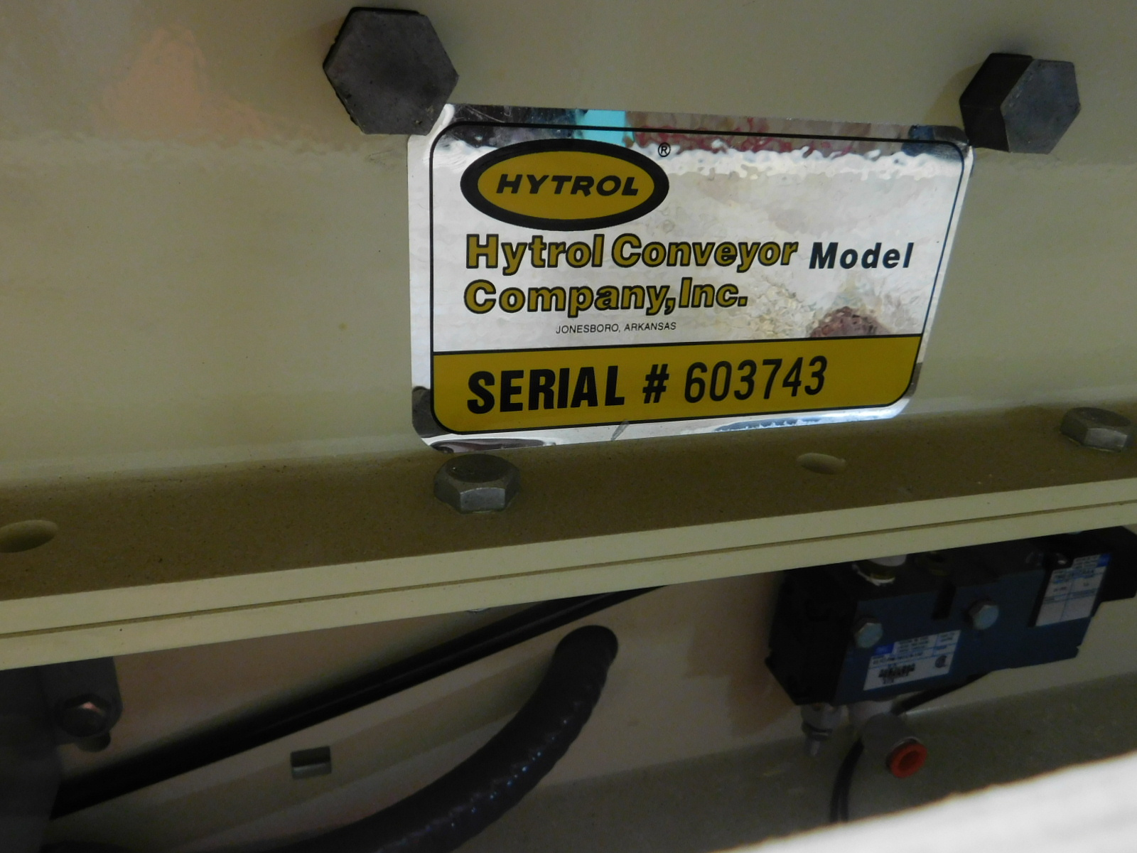 """Lot 26A - Hytrol Motorized Palletizers ?Conveyor 6'X3.3"""" X2', 460v dual voltage motor, You are buying the"""