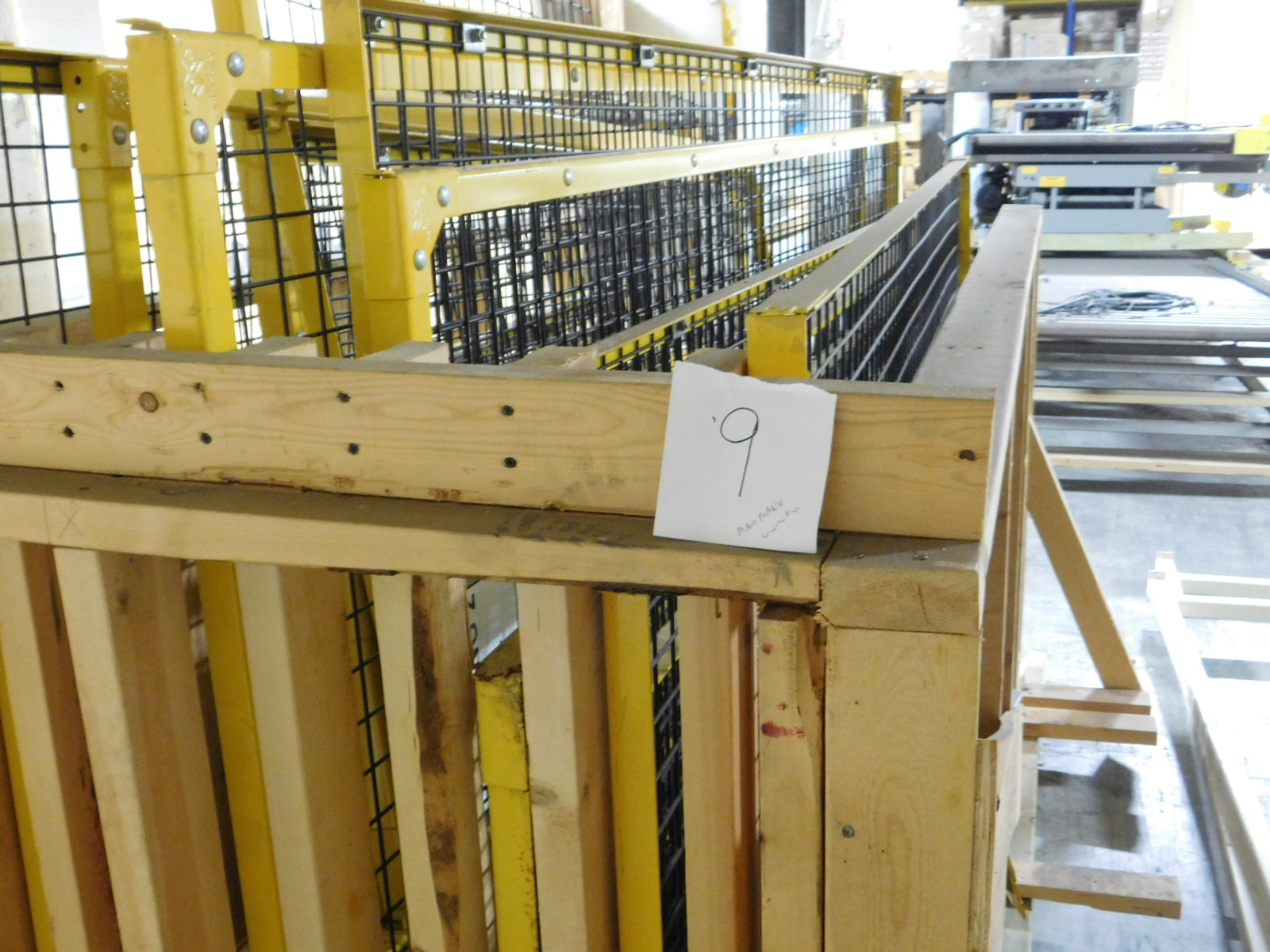 Lot 9 - Wire Metal YellowCage Yellow/ black cage 15 PIECES with Fortress Interlock Clark Logistic