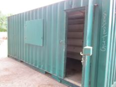 STEEL SHIPPING CONTAINER STORE, WITH RACKING
