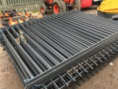 16NO STEEL RAILING SECTIONS GREY PAINTED