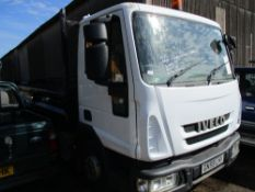 IVECO 7500KG TIPPER-RED GN59 LHT WITH V5