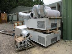 2NO LARGE AIR CONDITIONER UNITS C/W DUCTING AND ASSOCIATED PARTS