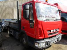 IVECO 7500KG TIPPER-RED GN59 LHT