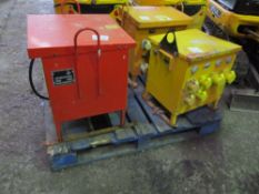 3X SITE TRANSFORMERS NO VAT ON HAMMER PRICE