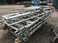 PALLET OF ASSORTED ALUMINIUM SCAFFOLD TOWER PARTS