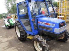 ISEKI TK538 4WD TRACTOR C/W CAB YEAR 2005