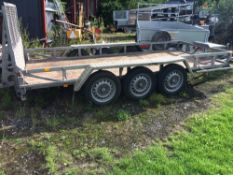 IFOR WILLIAMS GP146 TRIAXLED PLANT TRAILER YEAR 2011