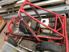 HONDA ENGINE GOCART PLUS ANOTHER CHASSIS.