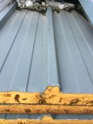 42NO APPROX INSULATED BOX PROFILE ROOF SHEETS, GREY