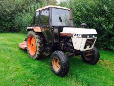 Case 1394 Tractor, road reg, 77hp, manual gearbox, low RECORDED hours of 2335, NB:TOPPER NOT