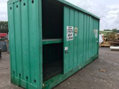 PAINT/CHEMICAL STORAGE CONTAINER, 2 DECKS WITH DRIP TRAY BASE