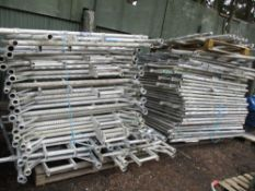LARGE QTY OF ALUMINIUM SCAFFOLD TOWER PARTS