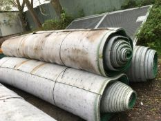 3no rolls of astro turf believed to be 60 metres length 4.5 width