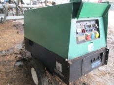 Genset MPM 12/370 towed welder SN:9902930