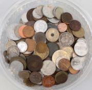 Konvolut Münzen aller Welt 19./20. Jh., ca. 300 Stück, Zustand ss