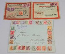 Briefmarken/ Einschreiben 1907 Shanghai Apolda u.a. Einschreiben via Sibirien von Shanghai/China