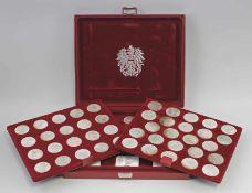 Großer Posten Silber-Gedenkmünzen Österreich 19 x 25 Schilling 1955-73 (je 13 g, 16 x 800er