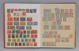 Briefmarken-Album Deutsches Reich 16 S., dabei u.a. Bayern, Norddeutscher Postbezirk, Danzig, im