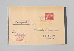 Ersttagsbrief DDR 1950 24 Pf. Volkswahlen mit Stempel DDR 1950, 24 Pf. Volkswahlen mit