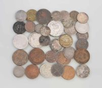 Posten Kleinmünzen Altdeutschland u. Deutsches Reich ca. 35 Stück, dabei u.a. 5 Pfennige 1864, 3
