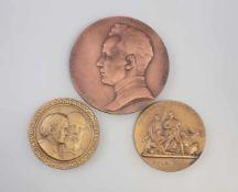 3 Russische Medaillen 2 x Bronze, dabei Petersburger Blutsonntag 1905, Dmitri Andrejewitsch Furmanow