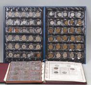 Posten Münzen und Banknoten ca. 100 Stück, dabei u.a. Münzen und Banknoten 3. Reich im